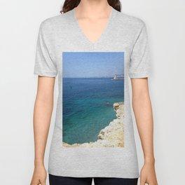 Summer Seascape Unisex V-Neck