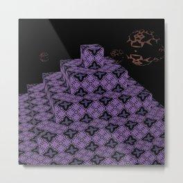 Pyramide Grotesque 22 Metal Print