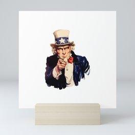 Uncle Sam Wants You! Mini Art Print