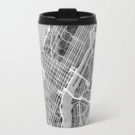 New York City Street Map Travel Mug