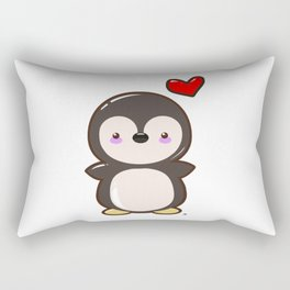 Penguin Kawaii Rectangular Pillow