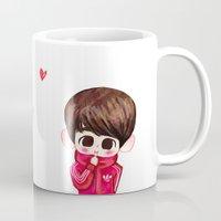 shinee Mugs featuring SHINee Adidas Minho by sophillustration