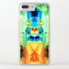 The Wedding - Abstract Art By Sharon Cummings Clear iPhone Case