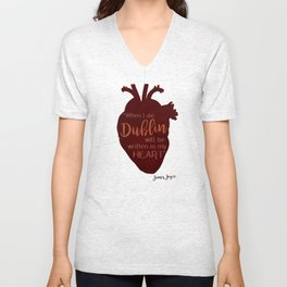 Dublin Heart Unisex V-Neck