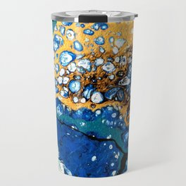 Gold and Blue Flow Travel Mug