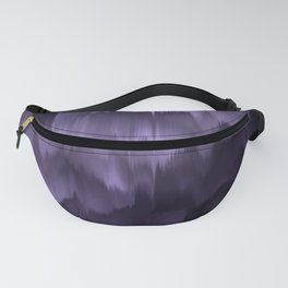 Purple and black. Abstract. Fanny Pack