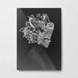 Lady with Birds(portrait) Metal Print