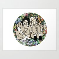 oitnb Art Prints featuring OITNB Floral by MODERN UNDERGROUND