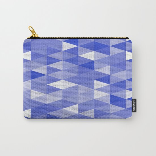 Triangles In Blue Carry-All Pouch