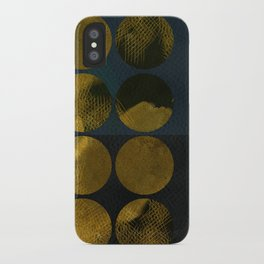 golden winter times iPhone Case