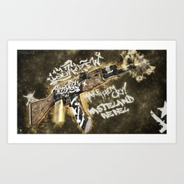 Machine Gun 1 Art Print