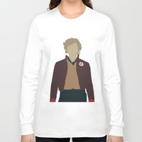 enjolras Long Sleeve T-shirts featuring Enjolras - Aaron Tveit - Les Miserables Minimalist design by Hrern1313