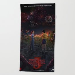 Stranger Thing Movie Beach Towel