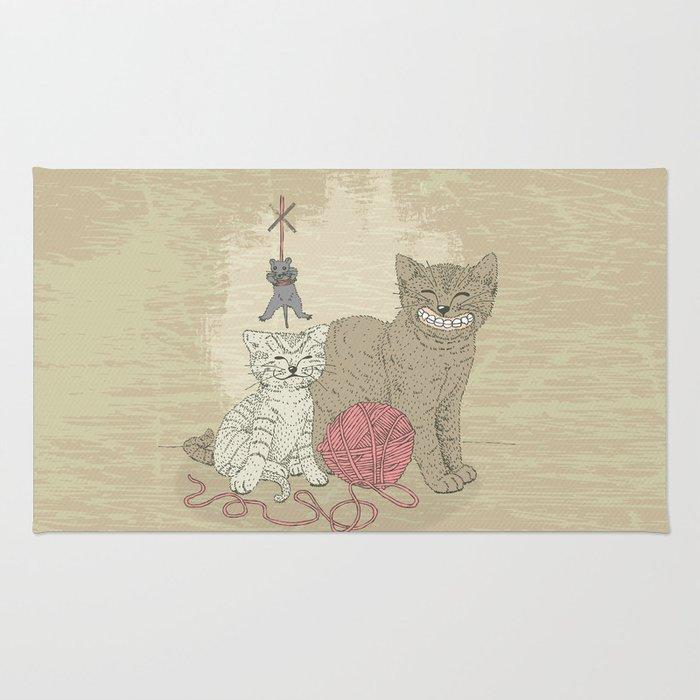 Naughty Cats Rug By Yaah