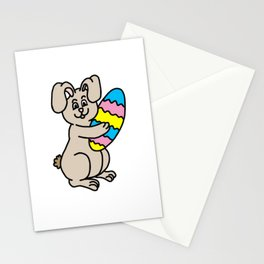 Easter Bunny And Egg Stationery Cards