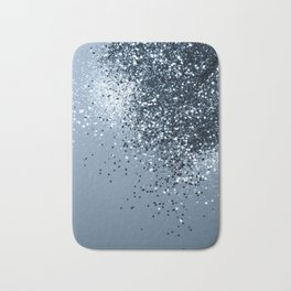 Sparkling Blue Lady Glitter #1 #shiny #decor #art #society6 Bath Mat