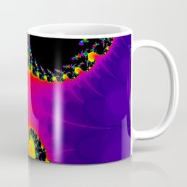 Abstract art psychedelic art fractal art ellow violet Coffee Mug