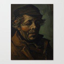 Vincent Van Gogh Head Of A Peasant Canvas Print