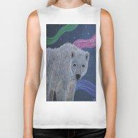 polar bear Biker Tanks featuring Polar Bear by Renee Trudell