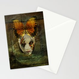 Surrealistic Venetian Mask Stationery Cards
