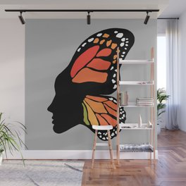 Butterfly Girl Wall Mural