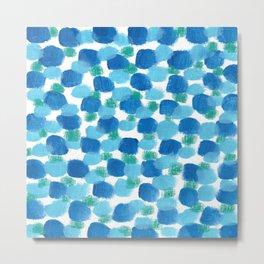 blue pebbles Metal Print