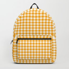 Saffron Yellow Gingham Check Backpack