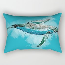 The beauty of a mothers love - Humpback Whales Rectangular Pillow