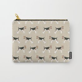 Wire Fox Terrier dog pattern dog lover gifts for dog person dog breeds pet friendly Carry-All Pouch