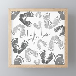 Little Love Footprints Framed Mini Art Print