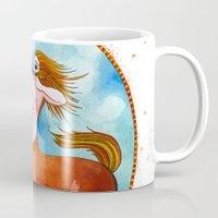 sagittarius Mugs featuring Sagittarius by Sandra Nascimento
