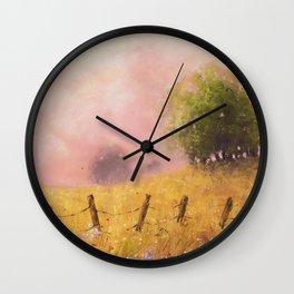 Quiet Pasture Soft Pastel Art Print Wall Clock