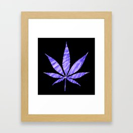 Weed : High Times Purple Blue Framed Art Print