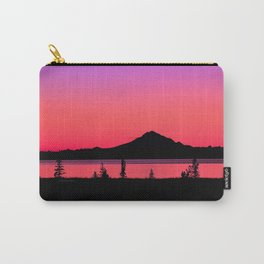 Pink Sunset Silhouette - Mt. Redoubt, Alaska Carry-All Pouch