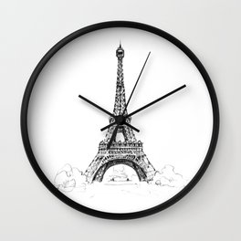 Eiffel Tower - La Tour Eiffel - Eiffelturm Wall Clock