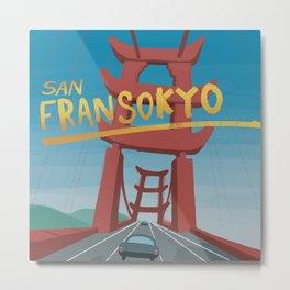 Colour - San Fransokyo - Metal Print