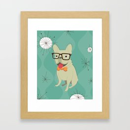Frank the Frenchie Framed Art Print