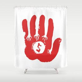 Capitalism Shower Curtain
