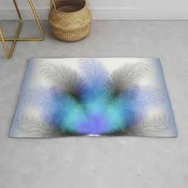 Colorful feather background Rug