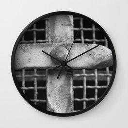 Iron Cross Artwork Wall Clock