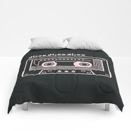 Black and White Disco Music Cassette Comforters