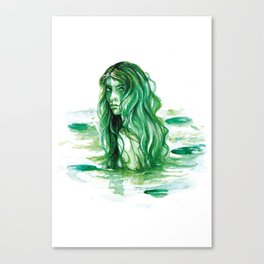 Frog Princess Sea Witch Canvas Print
