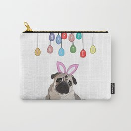 Happy Easter - Pug Carry-All Pouch
