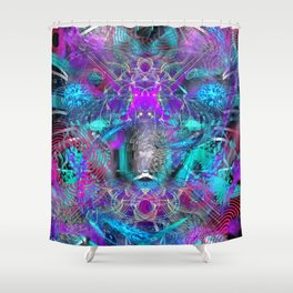 Abstract Energy 2 Shower Curtain