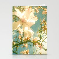 magnolia Stationery Cards featuring Magnolia by Cassia Beck