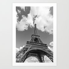Eiffel Tower - Black and White Art Print