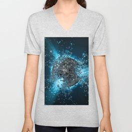 Disco planet explosion Unisex V-Neck