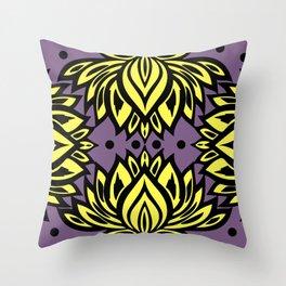 Waterlilies(purple background) Throw Pillow