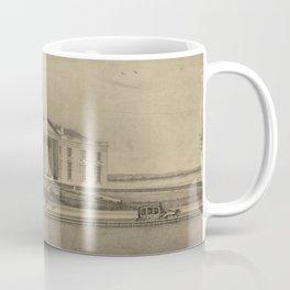 Vintage Illustration of the White House (1840) Coffee Mug