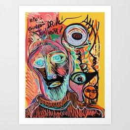Who is Gonna Drive Tonight Street Art Expressionism  Art Print